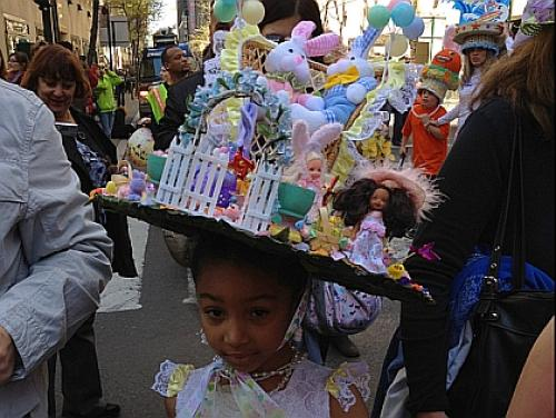 Easter Parade Marchers Put Fancy Headwear On Display