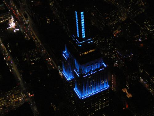 Empire State Building, JFK Tower Honoring World Autism Awareness Day