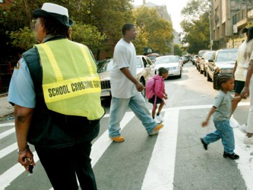 Fairview Crossing Guards Get New Uniforms
