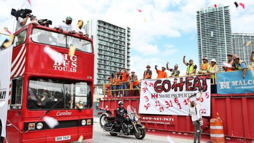 Heat Celebrate With Victory Parade, Rally