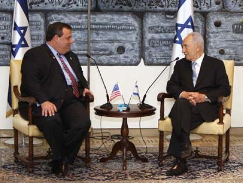 Israeli President Hosts New Jersey Governor