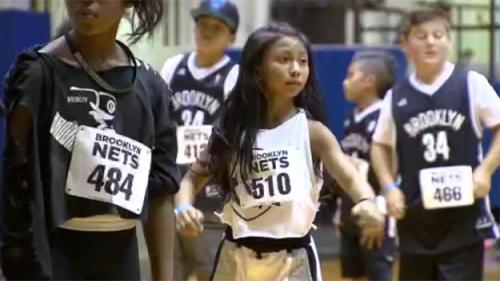 Kids Flock To Barclays Center In Hopes Of Making Brooklyn Nets Dance Team