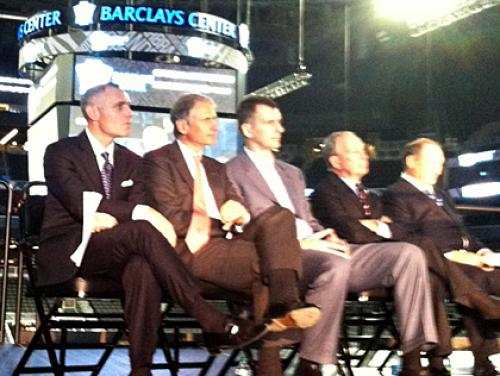 Officials Mark Completion Of Barclays Center At Ribbon-Cutting Ceremony