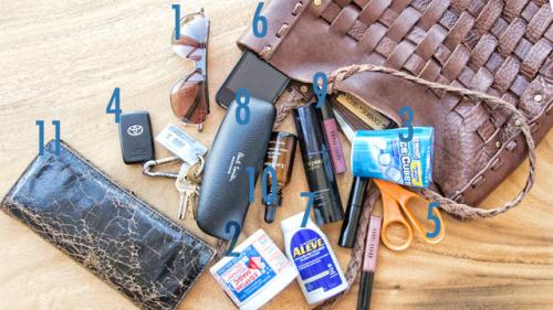 Purse Purge: Karen Zambos Carries Scissors, Men's Sunnies