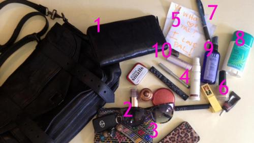 Purse Purge: Rachel Pally Stashes Travel Trinkets, Love Notes